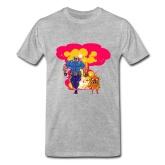 На картинке футболка Время приключений (Adventure time) 6 вариантов, вид спереди, вариант супергерои Джейк и Финн.