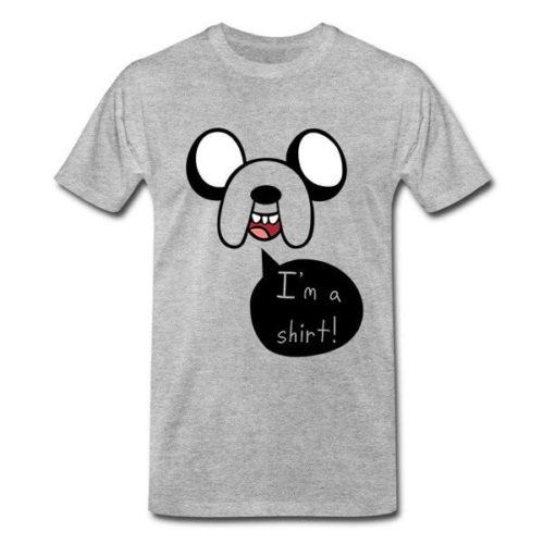 На картинке футболка Время приключений (Adventure time) 6 вариантов, вид спереди, вариант Джейк №1.