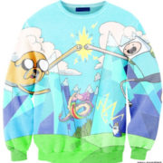 Свитшот-кофта «Джейк и Финн» из Время приключений (Adventure time) 4 варианта фото