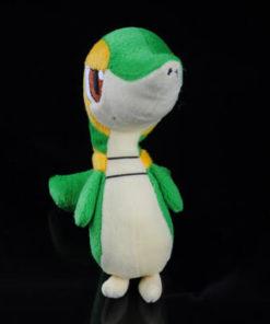 На картинке мягкая игрушка покемон Снайви, вид спереди.