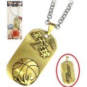 На картинке кулон Баскетбол Куроко (Kuroko no Basuke), вид с двух сторон.