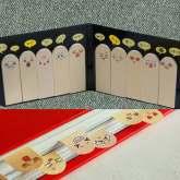 На картинке набор закладок-стикеров (самоклеющиеся) 2 варианта, общий вид.