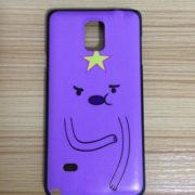 На картинке чехол с Принцессой Пупыркой на Samsung Galaxy Note 4, вид спереди.