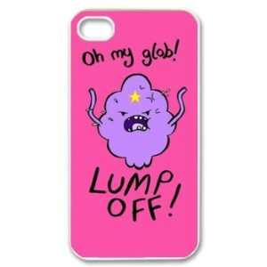 На картинке чехол с Принцессой Пупыркой на айфон (iPhone 4-4S-5-5C-6-6+) 2 варианта, вид спереди, вариант Oh my glob!.
