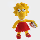 На картинке мягкие игрушки «Симпсоны» (Simpsons), вариант Лиза.
