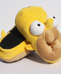 На картинке тапки (тапочки) «Гомер Симпсон» (Simpsons), общий вид.