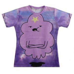 На картинке футболка с Принцессой Пупыркой, вид спереди.