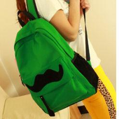 На картинке рюкзак-портфель с усами (усиками) 8 цветов, общий вид, цвет зеленый.