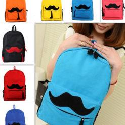 На картинке рюкзак-портфель с усами (усиками) 8 цветов, вид спереди, 7 вариантов.
