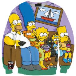 На картинке свитшот с Симпсонами (Simpsons), вид спереди.