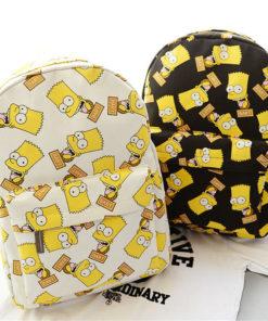 На картинке рюкзак с Симпсонами (Simpsons), общий вид, 2 варианта.