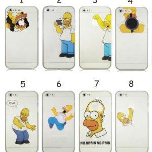На картинке чехол Гомер Симпсон на айфон 4-4S-5-5S-6, вид спереди, все варианты.