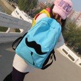 На картинке рюкзак-портфель с усами (усиками) 8 цветов, вид спереди, цвет голубой.