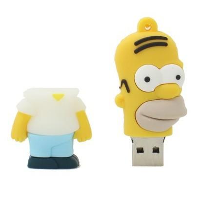 На картинке флешка «Симпсоны», вид спереди, вариант Гомер.