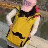 На картинке рюкзак-портфель с усами (усиками) 8 цветов, вид спереди, цвет желтый.