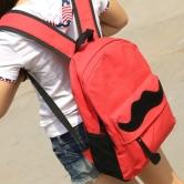 На картинке рюкзак-портфель с усами (усиками) 8 цветов, общий вид, цвет красный.