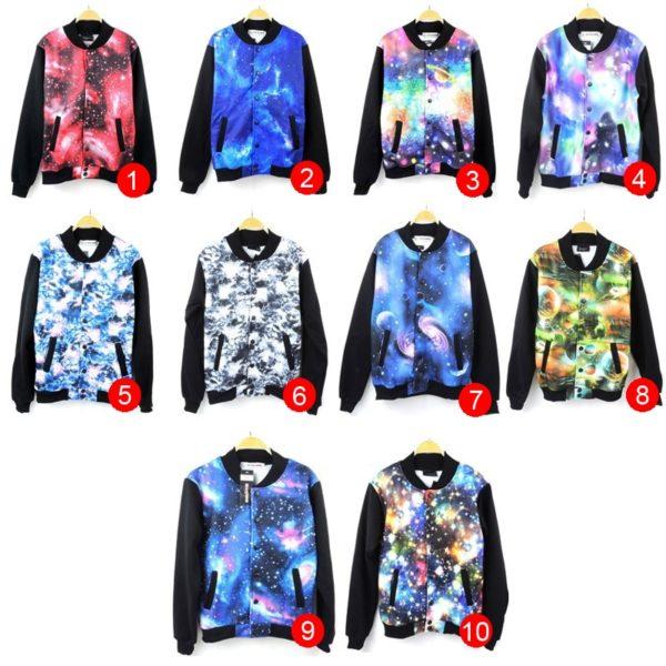 На картинке куртка «Космос», вид спереди. 10 вариантов.