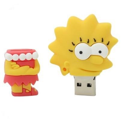 На картинке флешка «Симпсоны», вид спереди, вариант Лиза.