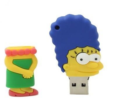 На картинке флешка «Симпсоны», вид спереди, вариант Мардж.