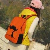 На картинке рюкзак-портфель с усами (усиками) 8 цветов, общий вид, цвет оранжевый.