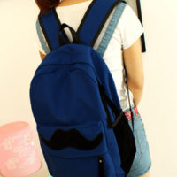 На картинке рюкзак-портфель с усами (усиками) 8 цветов, общий вид, цвет синий.