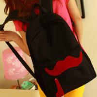 На картинке рюкзак-портфель с усами (усиками) 8 цветов, общий вид, цвет черный.