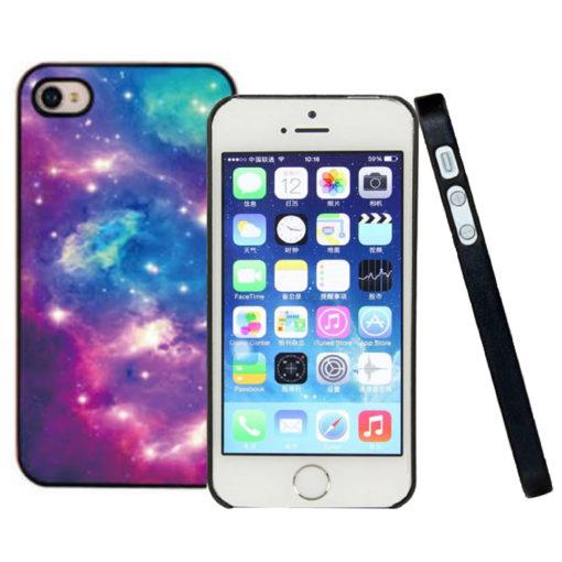 На картинке чехол на айфон космос (iPhone 4-4S-5-5S), вид с разных сторон. вариант 2.