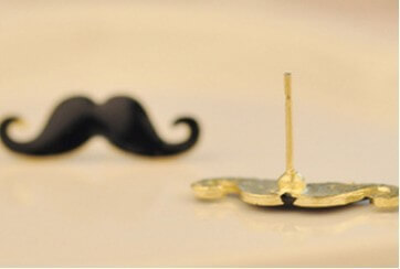 На картинке сережки усы (усики) 6 вариантов, обратная сторона.