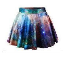 На картинке юбка космос (3 варианта), вариант зеленый.