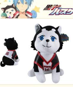 На картинке мягкая игрушка Баскетбол Куроко собака Тецуя 2, вид спереди и сзади.