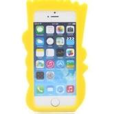 На картинке силиконовый чехол на айфон 4-4S-5-5S-6 Барт Симпсон, вид сзади.