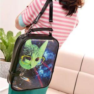 На картинке сумка Космос и кот, общий вид.