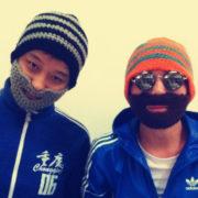 Шапки с усами и бородой (4 варианта) фото