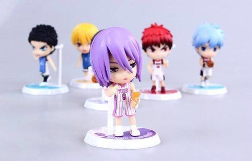 На картинке фигурки Баскетбол Куроко (6 штук), на переднем плане фигурка Мурасакибары Атсуши.