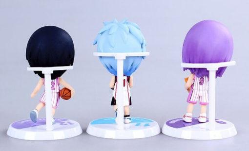 На картинке фигурки Баскетбол Куроко (6 штук), вид сзади.
