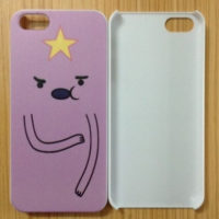 На картинке чехол с Принцессой Пупыркой на айфон (iPhone 4-4S-5-5C-6-6+) 2 варианта, вид спереди, вариант Принцесса Пупырка.