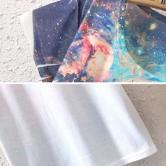 На картинке футболка «Космос» женская (5 вариантов), детали, вариант 1.