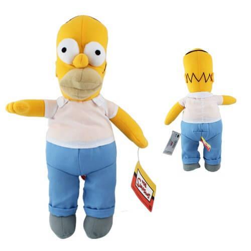 На картинке мягкие игрушки «Симпсоны» (Simpsons), вариант Гомер.