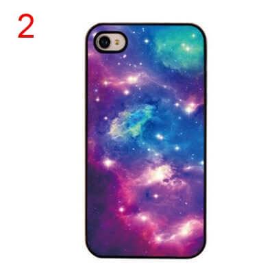 На картинке чехол на айфон космос (iPhone 4-4S-5-5S), вид спереди. вариант 2.