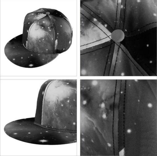 На картинке кепка с прямым козырьком «Космос», общий вид, вариант серый.