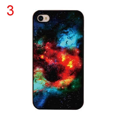 На картинке чехол на айфон космос (iPhone 4-4S-5-5S), вид спереди. вариант 3.