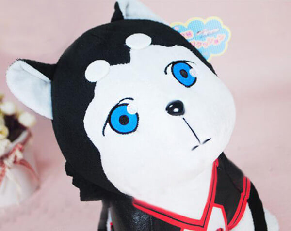 На картинке мягкая игрушка Баскетбол Куроко собака Тецуя 2, детали.