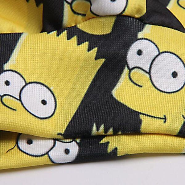 На картинке свитшот с Бартом Симпсоном (Simpsons), детали.