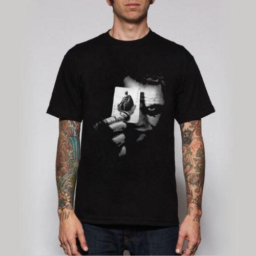 На картинке футболка «Джокер» (3 варианта), вид спереди, вариант Джокер и Бэтмен.