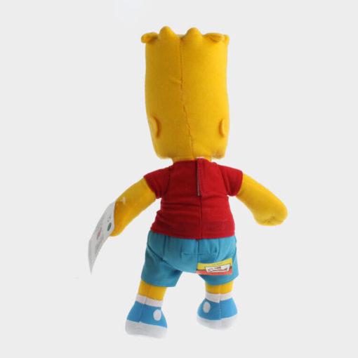 "На картинке мягкая игрушка Барт Симпсон ""Simpsons"", вид сзади."