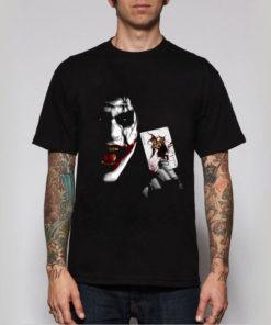 На картинке футболка «Джокер» (3 варианта), вид спереди, вариант Джокер.