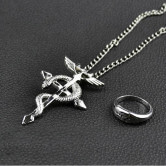 На картинке набор «Стальной алхимик», кулон и кольцо.