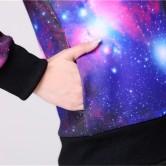 На картинке кофта с принтом (рисунком) космос (2 варианты), детали, вариант розовый.