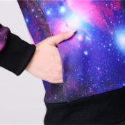 Кофта с принтом (рисунком) космос (2 варианты) фото