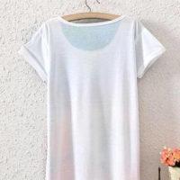 На картинке футболка «Космос» женская (5 вариантов), вид сзади.